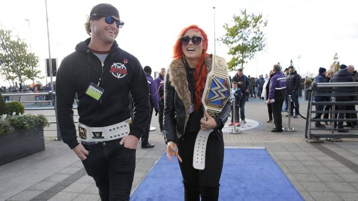 Dolph Ziggler and Becky Lynch hit the pitch with the Manchester City Football Club
