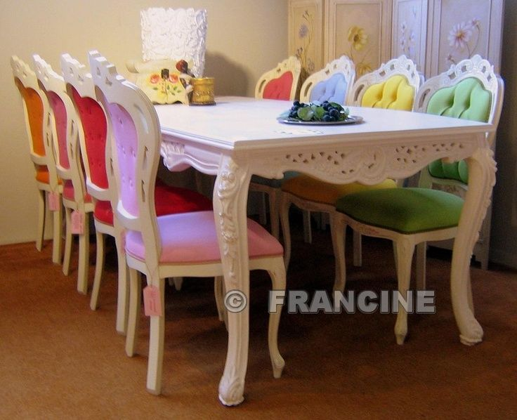 Different colored dining room chairs from statement for Different color chairs