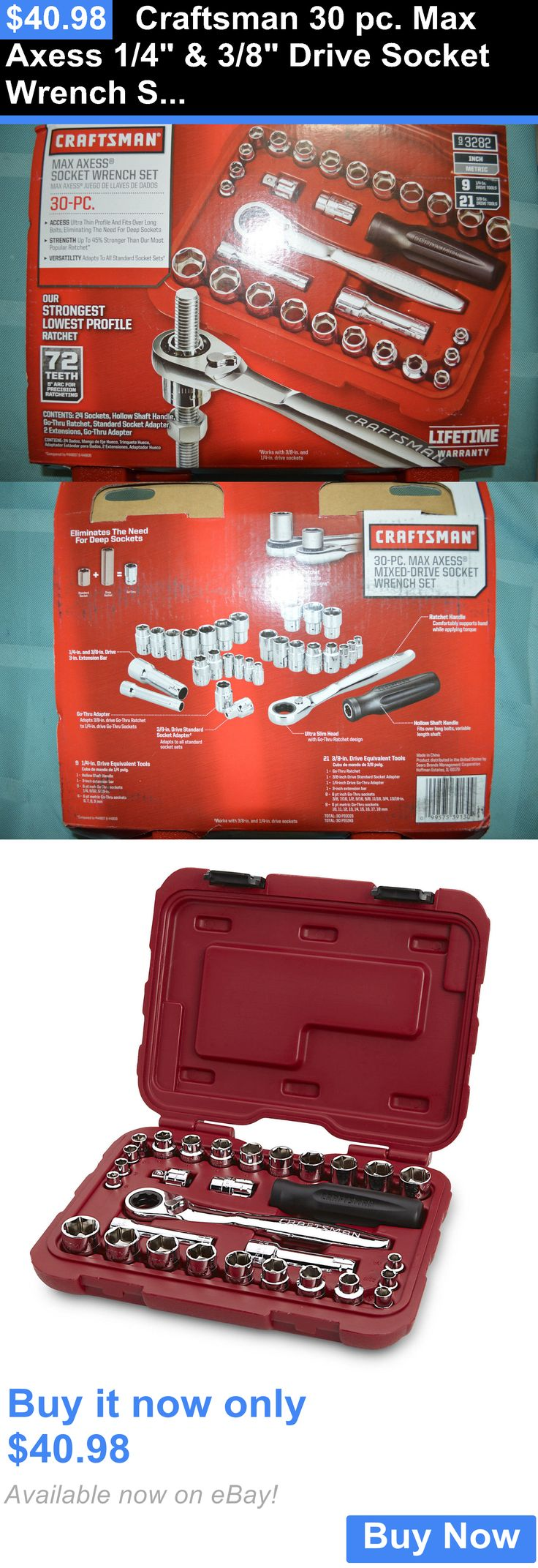 tools: Craftsman 30 Pc. Max Axess 1/4 And 3/8 Drive Socket Wrench Set