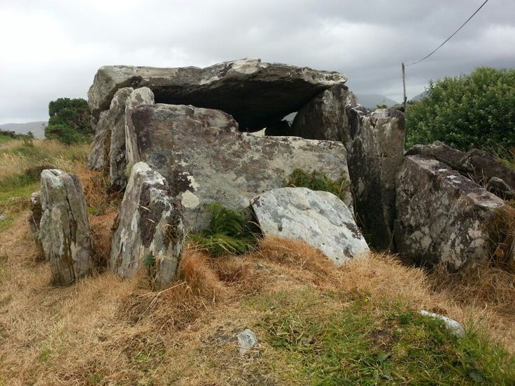 Megalithic wedge tomb near Louisburgh, County Mayo.