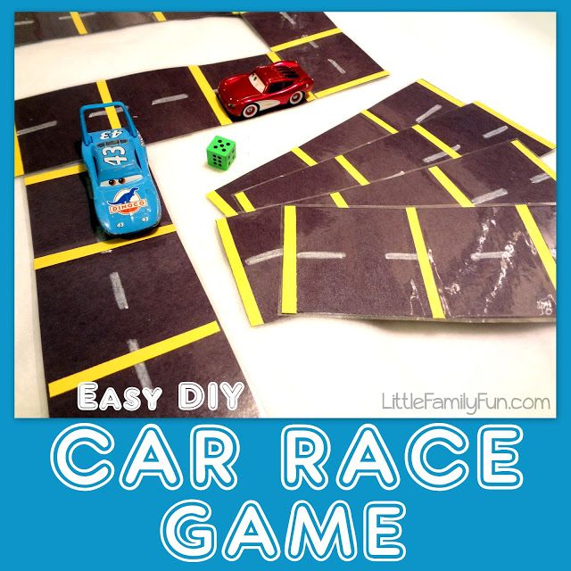 Easy to make Car Race Game! Goes with the book Sputter, Sputter, Sput!