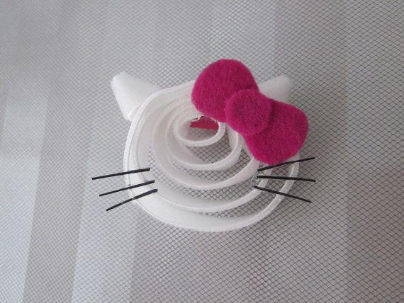 Hello Kitty hair clip - ribbon sculpture