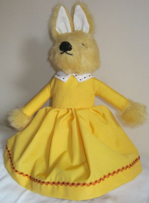 Fox Fantasy Toy Yellow Plush Dressed Toy Cuddly by COLDHAMCUDDLIES