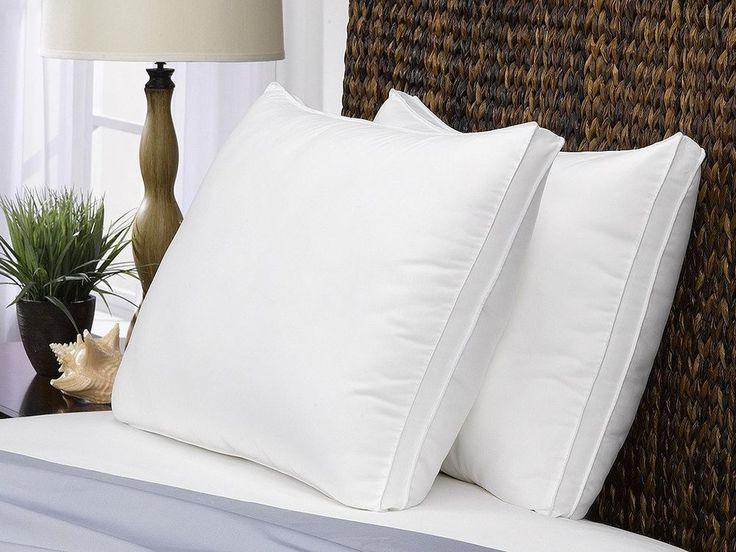 Queen Size Bed Pillows Set Of 2 Pack Soft Down Alternative Medium Firm Pillows #PrimeStoreDeals