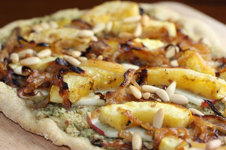 pizza with roasted squash, apples, caramelized onions and sage walnut ...