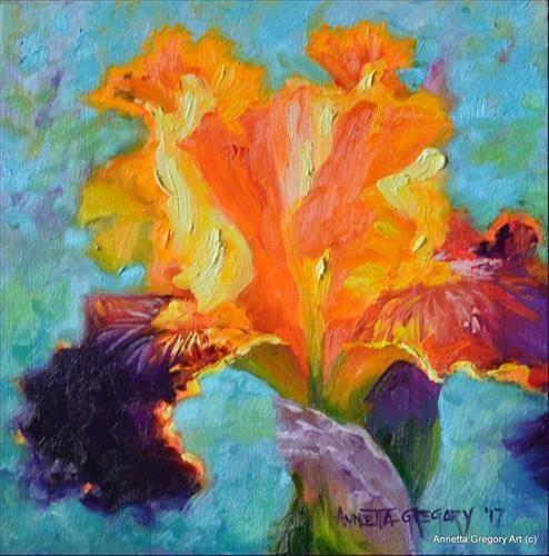"Daily Paintworks - ""Garden Royalty"" - Original Fine Art for Sale - © Annetta Gregory"