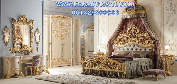 Jual Kamar Set Ukir Emas Yudha | Desain Set Tempat Tidur Ukir Gold