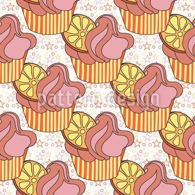The Star Cupcake Pattern Design Pattern Design by Elena Alimpieva at patterndesigns.com
