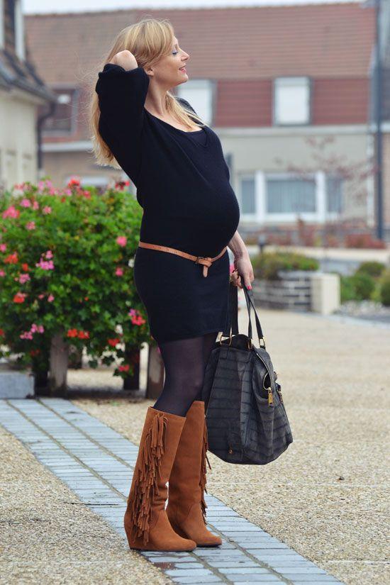 robe en laine maje belle enceinte tenues de grossesse maternity pregnant style pinterest. Black Bedroom Furniture Sets. Home Design Ideas