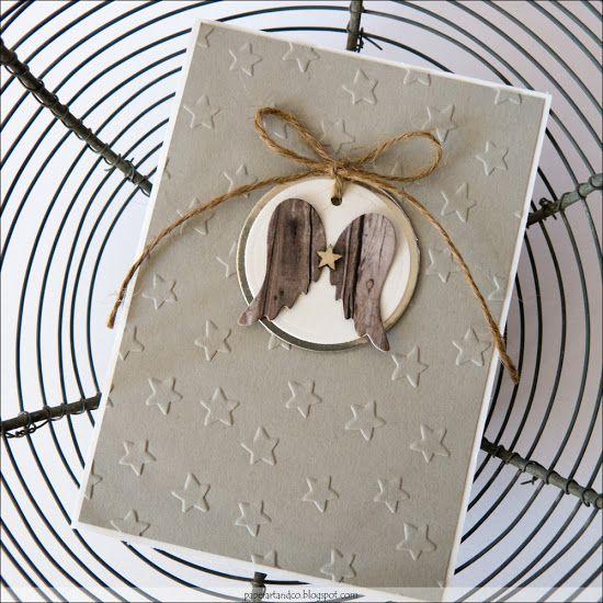 Geprägtes mit Flügelchen - Mary-Jane´s Weihnachtskarten Challenge