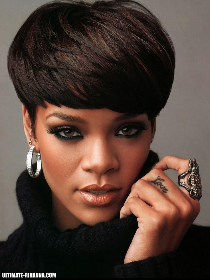 Mushroom Hairstyle mushroom haircut for black women Rihanna Mushroom Cut Hairstyle Short Hair