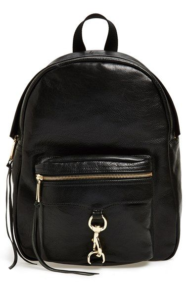 Thinking about switching to a backpack for long walking days. Love this leather one from @RebeccaMinkoff
