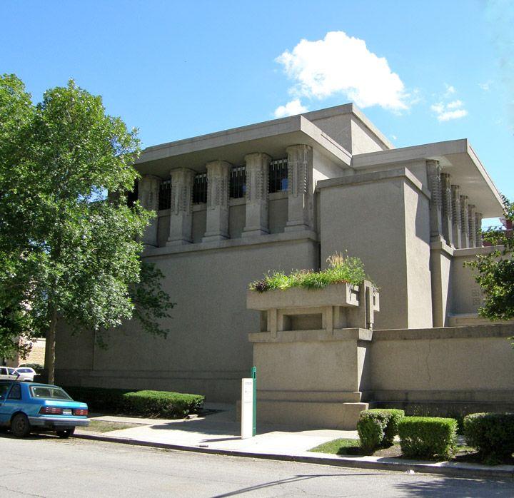 Unity Temple, designed by Frank Lloyd Wright, Oak Park, Illinois