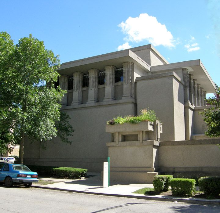 Unity Temple, designed by Frank Lloyd Wright, Oak Park, Illinois