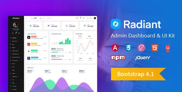 Radiant Bootstrap 4 Admin Template Angular 5 Starter Kit Columns4 Admin Admin Dashboard Admin Templates Admin Panel Template Dashboard Template