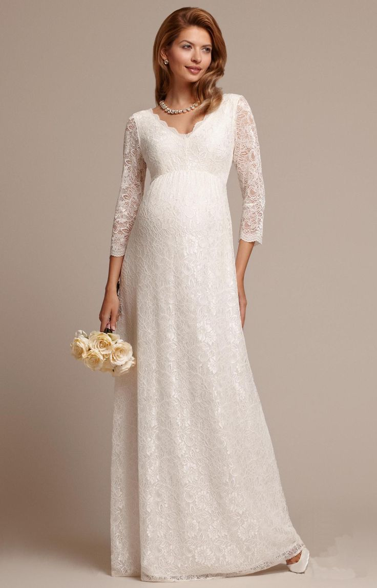 cool Красивые свадебные платья для беременных (50 фото) — Лучшие фасоны для стильных невест Check more at https://dnevniq.com/svadebnye-platya-dlya-beremennyh-foto/