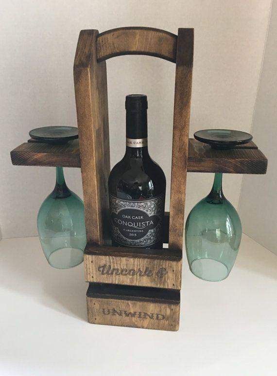 Fourre-tout en cadet vin rustique transporteur de vin vin