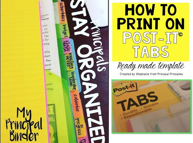 How to Print on Post It Tabs