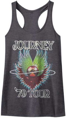 This women's vintage Journey concert tank top tshirt is from the band's 1979's concert tour, which was performed to promote their most recent album release at the time: Evolution. Evolution, which was