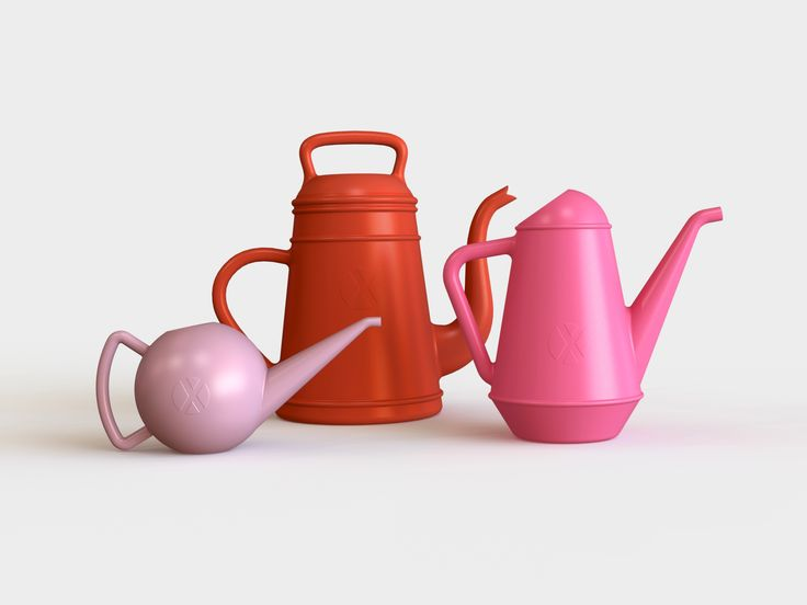 #BOWLI, #LUNGO, #BUTLER, a series of #XALA watering cans.
