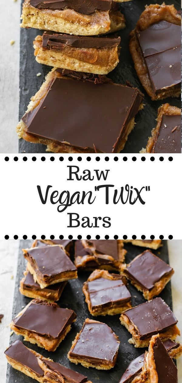 Raw Vegan Twix Bars