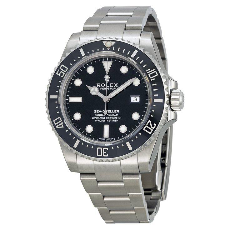 Rolex Sea-Dweller 4000 Black Dial Stainless Steel Men's Watch 116600BKSO - Sea-Dweller - Rolex - Shop Watches by Brand - Jomashop