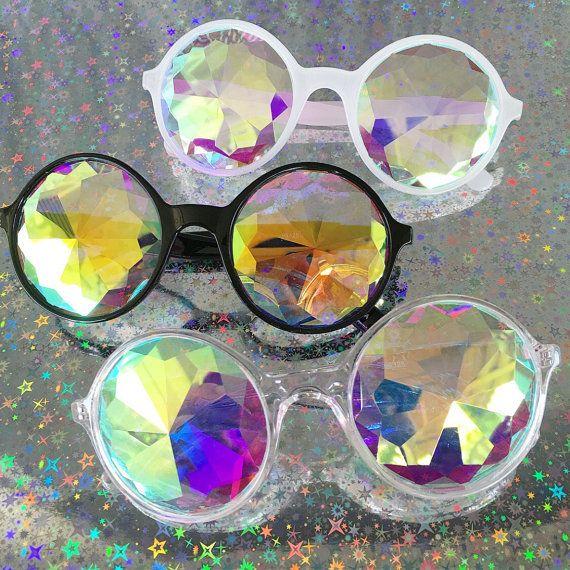 Kaléidoscope lunettes / lunettes de soleil Kaleidoscope / verres à prisme / Trippy lunettes / lunettes de Rave / cristal vitres / Revo en miroir lunettes de soleil