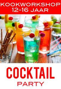 kookworkshop kinderen kinderfeestje cocktail party