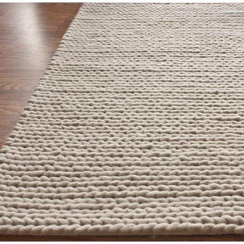 balance chunky cable tan rectangular 6 ft x 9 ft rug nuloom area - Nuloom Rugs