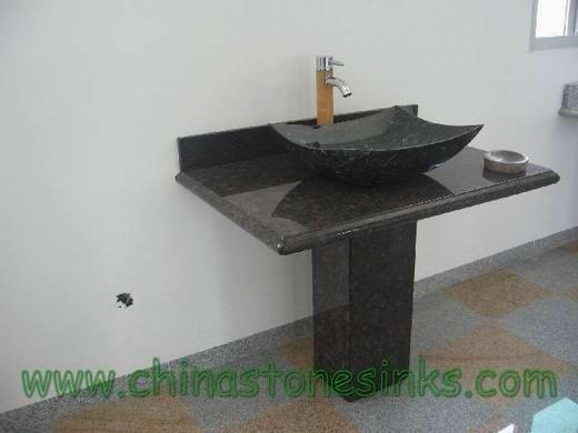 tan brown granite pedestal with starry vessel