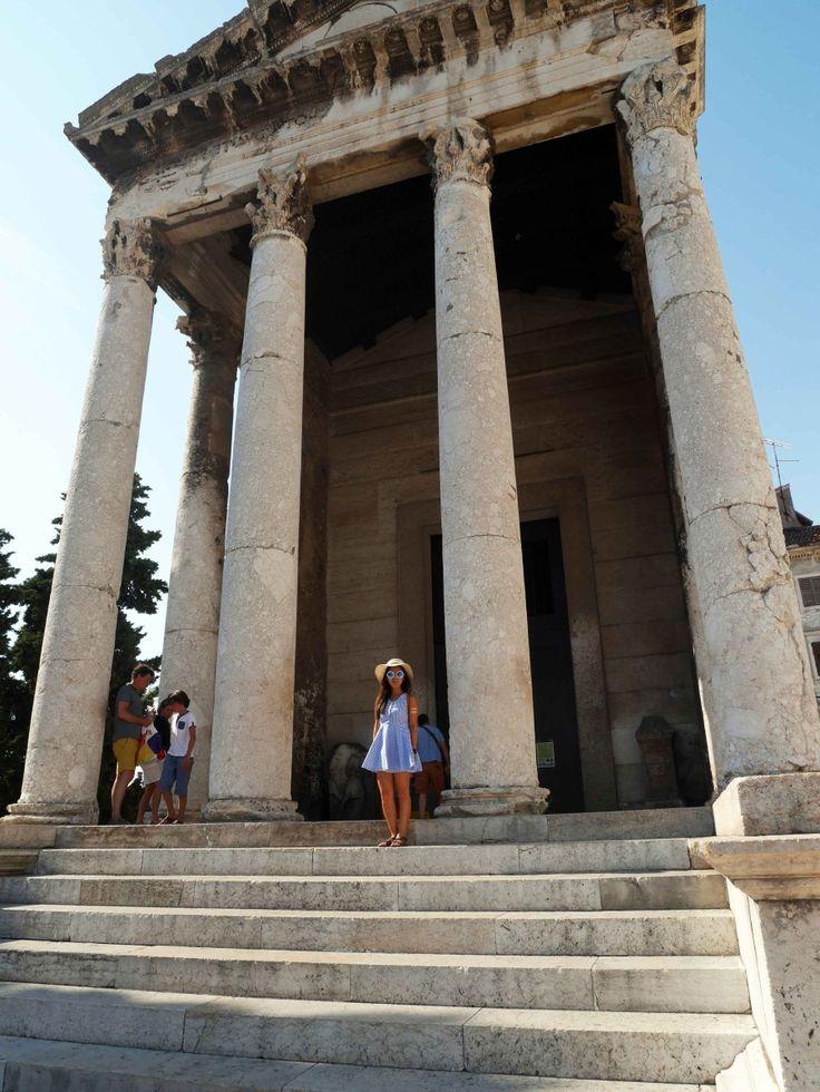 THE AUGUSTUS TEMPLE, Pula, Croatia | The Ultimate Guide to Pula, Croatia | Laugh Travel Eat