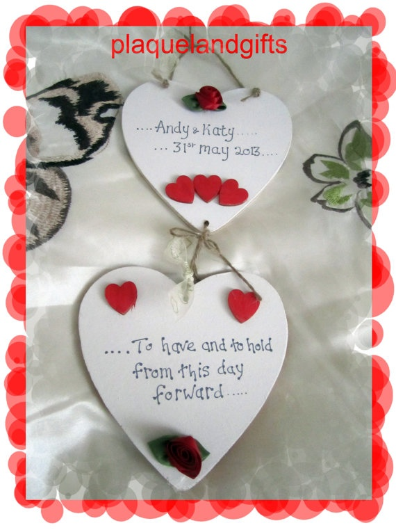 BRIDE  GROOM special wedding personalised gift by plaqueland2, £8.75