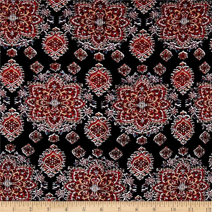 This very lightweight rayon fabric is semi-sheer and has a beautiful fluid drape and soft hand. It is perfect for creating shirts, blouses, gathered skirts and flowing dresses with a lining. Colors include black, red, orange, white, and blue.