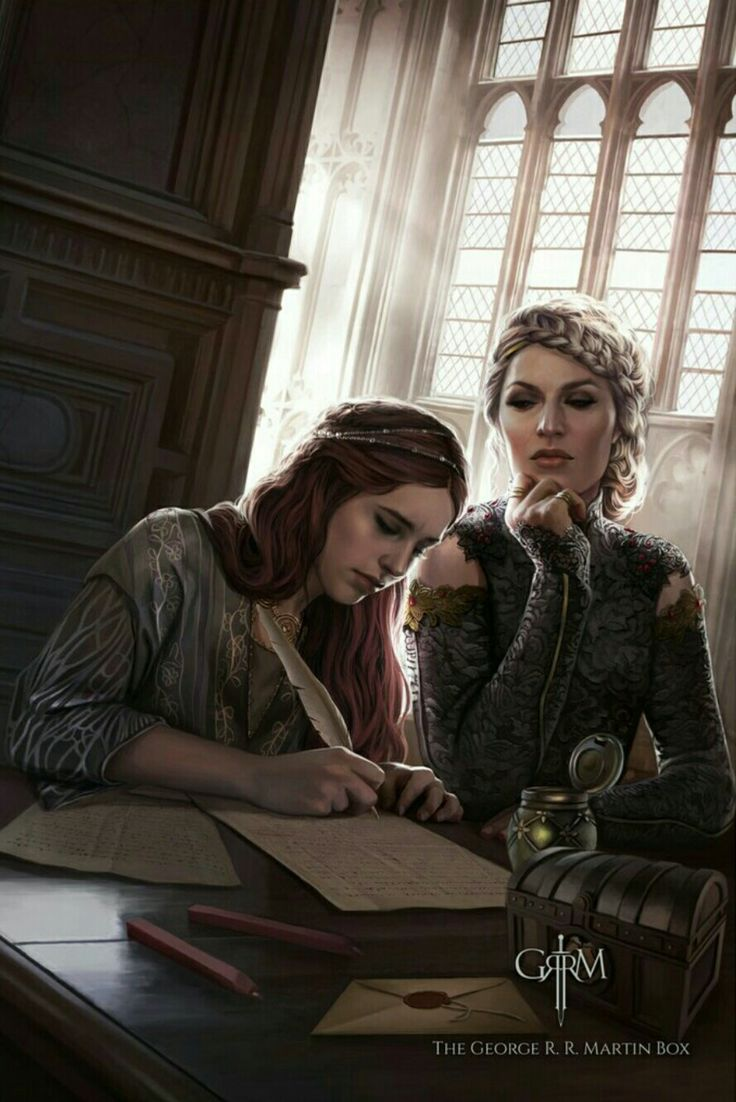cersei and sansa by magali villeneuve