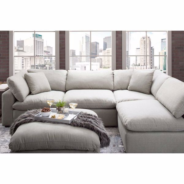 Will Do A Sectional In The Tv Room Just Like That This Looks Super Comfy Without Being O In 2020 Living Room Sectional Cheap Living Room Furniture Couches Living Room #rooms #to #go #living #room #suit
