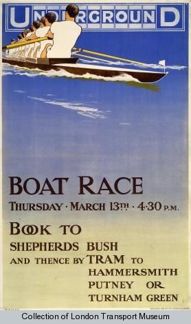 London Underground poster: Boat Race