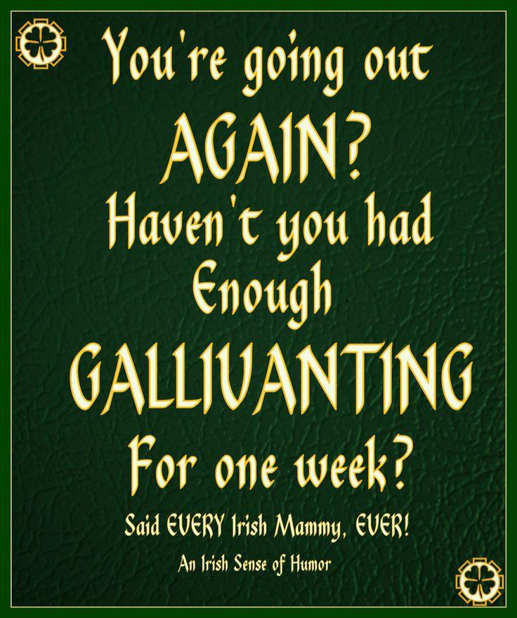 Irish Gallivanting ..