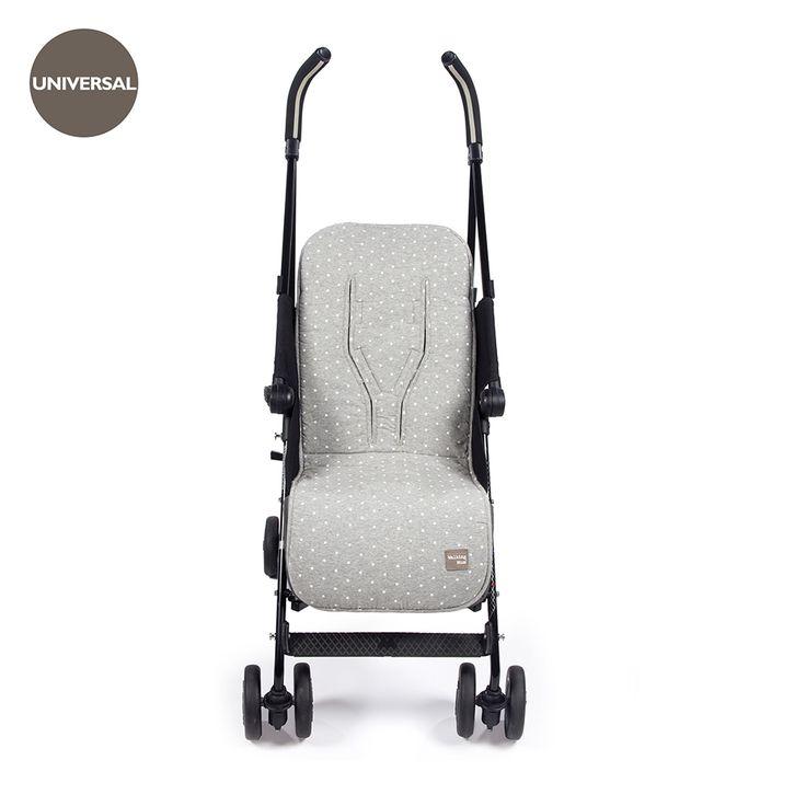 Colchoneta para silla de paseo de verano universal Gaby Gris. Trasera con material anti-sudoración que evita la sudoración excesiva del bebe y protege la silla haciendo el paseo más confortable. Dispone de varias aperturas (ojales) y ajustes para adaptarla a la mayoría de la sillitas de paseo, convirtiendo el paseo de tu bebé seguro y confortable. Las fundas para silla de paseo están fabricadas conforme a las más exigentes normativas europeas. Walking Mum protege a tu bebe utlizando los…