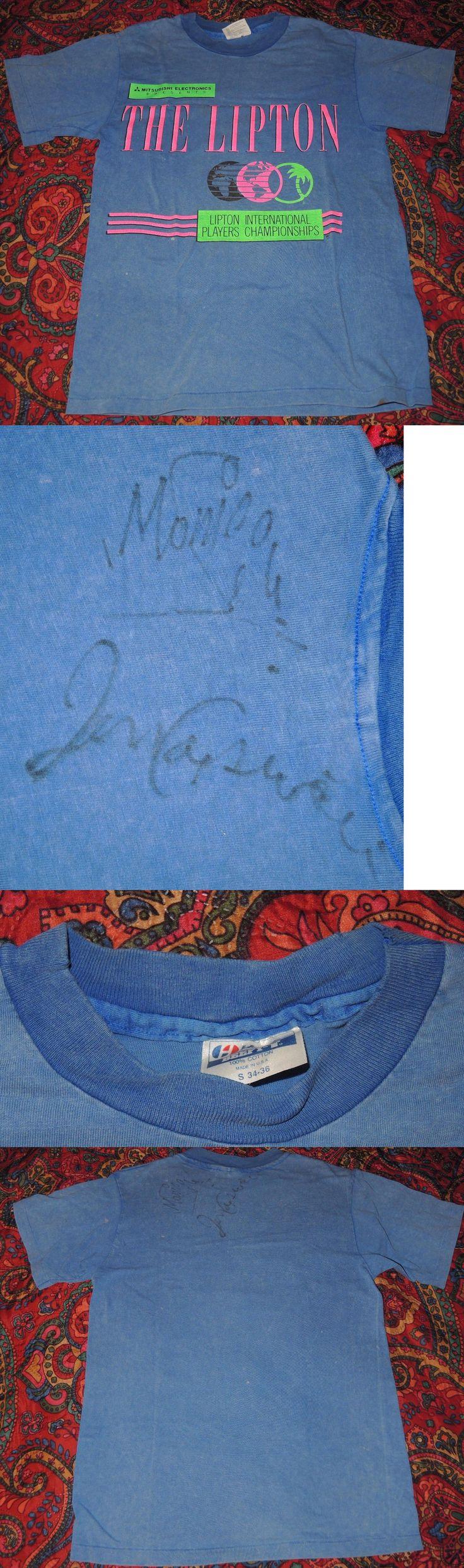 Tennis 430: Vintage 1990 Rookies Monica Seles Jennifer Capriati Signed Miami Tennis T-Shirt -> BUY IT NOW ONLY: $79.95 on eBay!