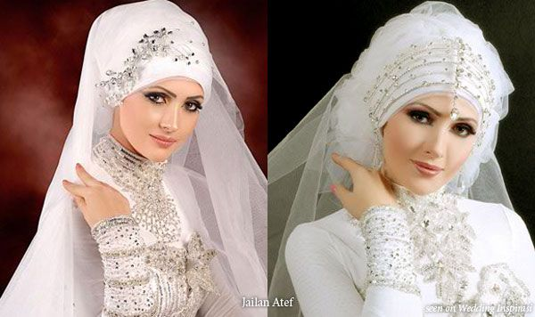 #culture #religious    Wedding Hair Accessories, Hijab Scarves and Veil Styles by Jailan Atef
