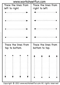 Line Tracing - Pre-writing - 2 Worksheets