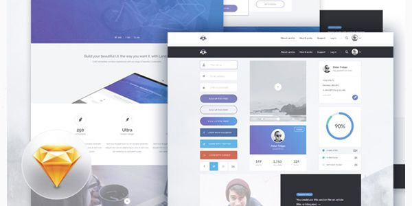 freebie-land-io-ui-kit-landing-page-design-sketch