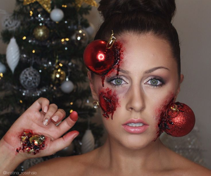 Christmas Special Effects makeup by Kristina Rose