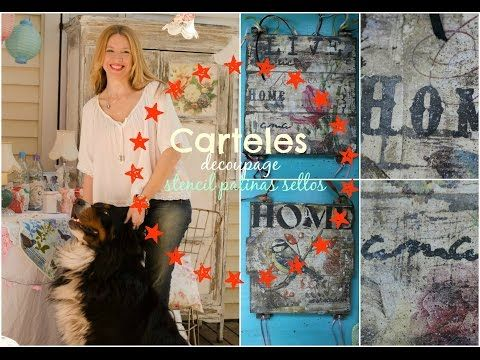 Como decorar bandejas- Patinas-Craquelado-decoupage ♥ Marina Capano - YouTube