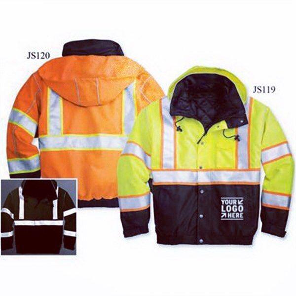 Hi-Vis Brilliant Series Bomber Jacket - Customize  with your logo  #bomberjacket #construction #contractors #constructionworker #apparel #jackets #hivis #thegiftplannerllc #promotionalproducts #corporate #corporategift