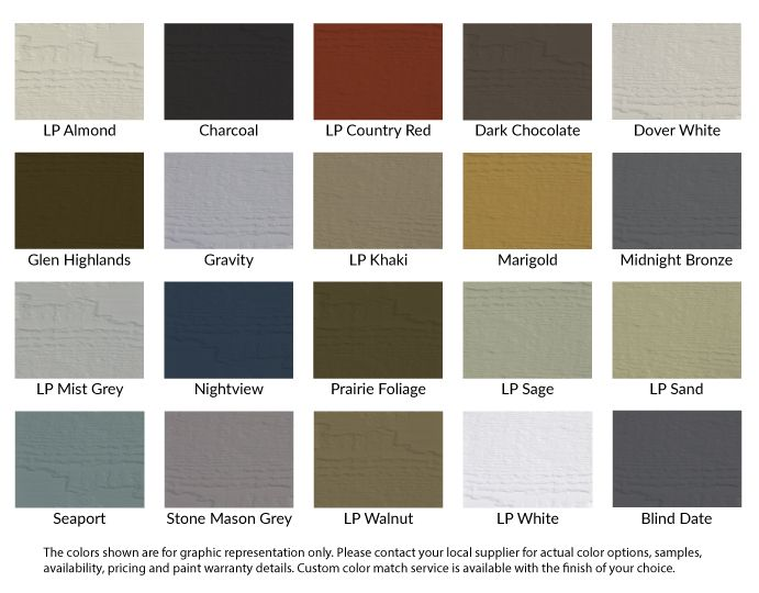 Lp Smartside Prefinished Color Options The Smartside