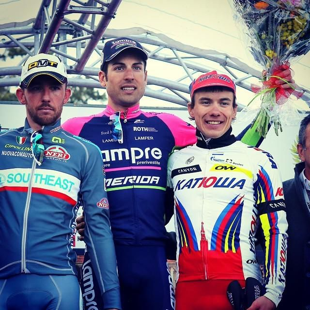 Alexey Tsatevich is on the podium of #TrofeoLaigueglia 2015. Nice result!