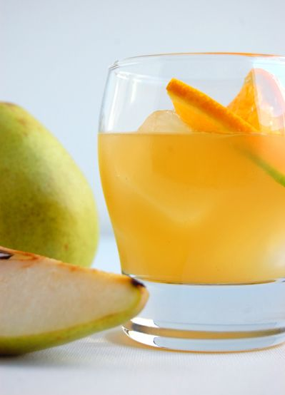Orange, ginger, pear & bourbon drinks