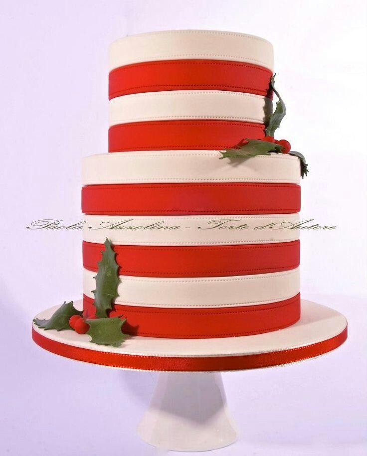 Свадебный торт в полоску