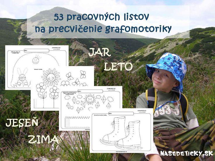 53 pracovných listov pre deti predškolského veku na precvičenie grafomotorických zručností.